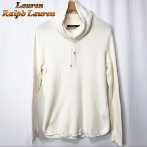 Lauren Ralph Lauren Cowl Neck Thermal Cream M